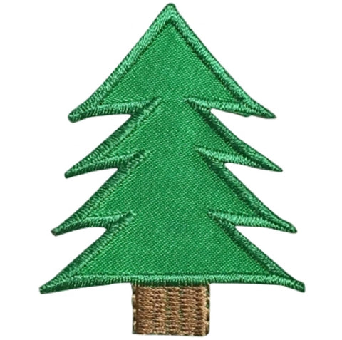 "Pine Tree Applique Patch - Evergreen, Conifer Badge 2.25"" (Iron on)"