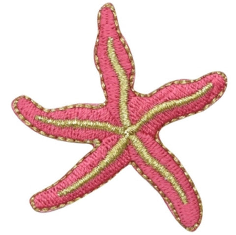 "Starfish Applique Patch - Sealife, Ocean, Beach Badge 2"" (Iron on)"