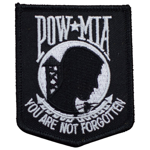 "POW MIA Patch - Prisoner of War, Missing in Action, Not Forgotten 3"" (Iron on)"