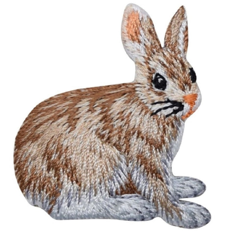 "Hare Applique Patch - Rabbit, Jackrabbit, Leveret Badge 1-3/4"" (Iron on)"