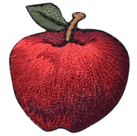 "Apple Applique Patch - Fruit, Food Badge 1-3/8"" (Iron on)"