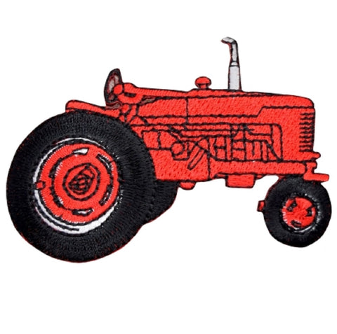 "Tractor Applique Patch - Farm Equipment, Farmer Badge 3.5"" (Iron on)"