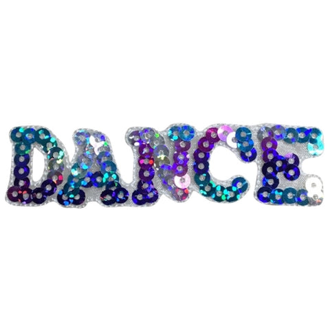 "Dance Applique Patch - Sequin Dancing Badge 3"" (Iron on)"