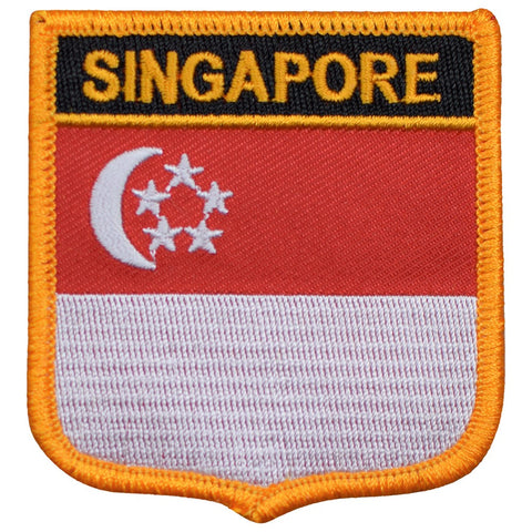 "Singapore Patch - Malay Peninsula, Straights of Malacca 2.75"" (Iron on)"