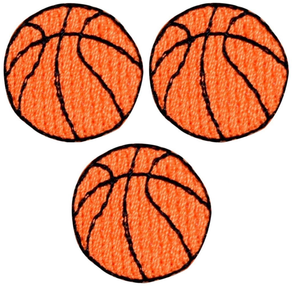 3-Pack, Small, Iron on Beach Ball Applique Patch