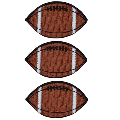 Football Applique Patch (3-Pack, Small, Iron on)