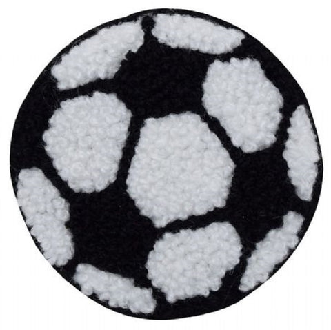 "Chenille Soccer Ball Patch - Sports Futbol, Letterman Jacket 2-1/4"" (Iron on)"