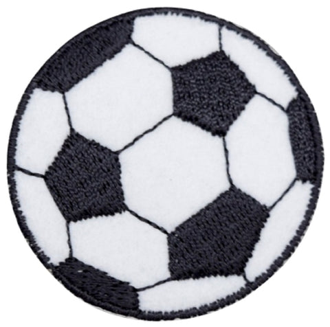 "Soccer Ball Applique Patch - Futbol, Sports Badge 2"" (Iron on)"