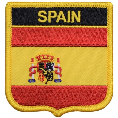 "Spain Patch - Strait of Gibraltar, Iberian Peninsula, Madrid 2.75"" (Iron on)"