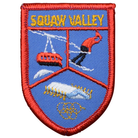 "Vintage Squaw Valley Patch - California, Winter Olympics, Ski Badge 3"" (Sew on)"