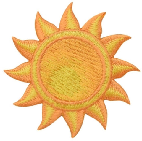 "Sun Applique Patch - Star, Solar System, Space Badge 1-7/8"" (Iron on)"
