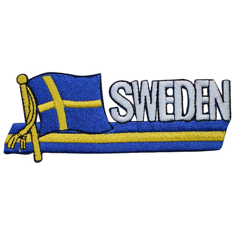 "Sweden Patch - Stockholm, Fennoscandia, Baltic Sea, Scandinavia 4-7/8"" (Iron on)"