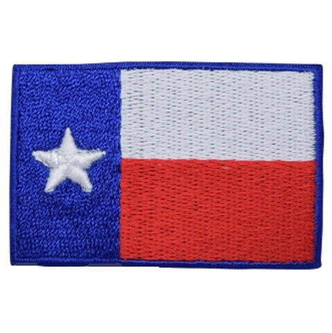 "Texas Flag Patch - Houston, San Antonio, Dallas, Fort Worth 2.25"" (Iron on)"