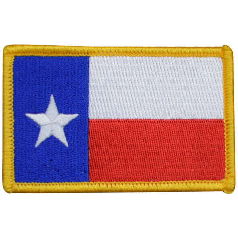 "Texas Flag Patch - Houston, San Antonio, Dallas, Fort Worth 3-3/8"" (Iron on)"