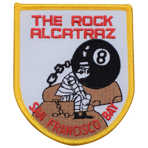 "Alcatraz Patch - The Rock, San Francisco, California Badge 3-3/8"" (Iron on)"