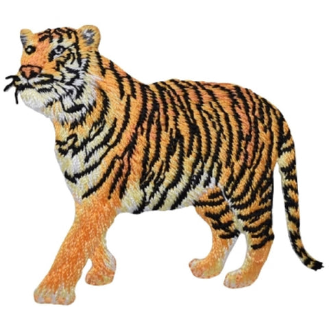 "Tiger Applique Patch - Feline, Kitty, Big Cat Badge 2-5/8"" (Iron on)"