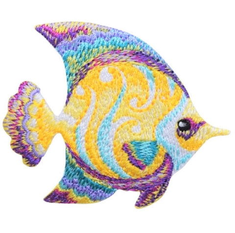 "Fish Applique Patch - Tropical, Ocean, Snorkeling Badge 2.5"" (Iron on)"
