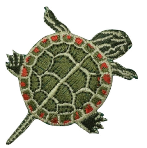 "Painted Turtle Applique Patch 2.5"" (Iron on)"