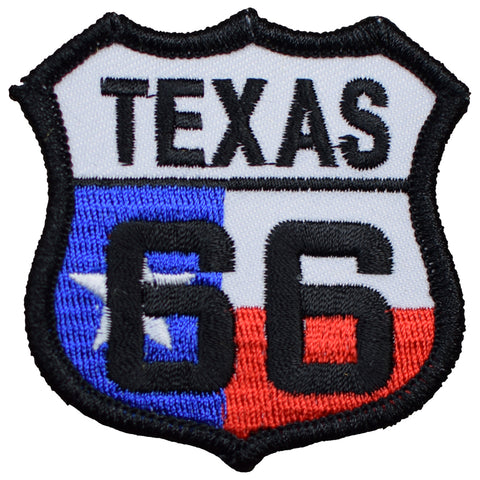 "Texas Patch - Route 66, Conway, Groom, Amarillo 2.5"" (Iron on)"