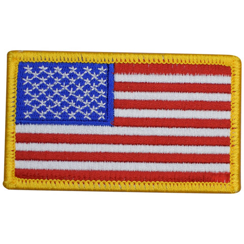 "American Flag Patch - United States of America, USA 3-3/8"" (Iron on)"