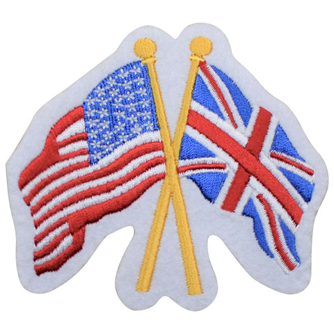 "Great Britain Applique Patch - USA and GB United, UK Badge 3.25"" (Iron on)"