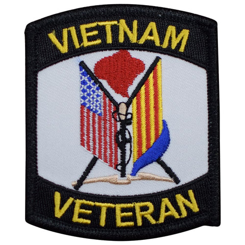 "Vietnam Veteran Patch - USA United States Military Badge 3"" (Iron on)"