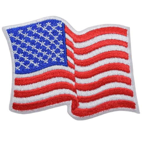 Mexican American Flag Patches Embroidered Patch USA Patriotic Iron On Small 3.25