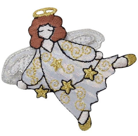 "Angel Applique Patch - Halo, String of Stars 2.5"" (Iron on)"