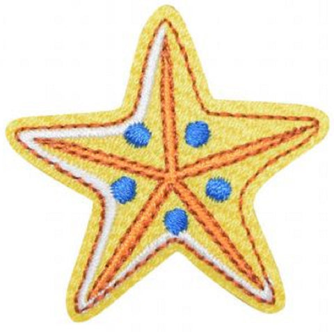 "Starfish Applique Patch - Sealife, Ocean, Beach Badge 1-7/8"" (Iron on)"