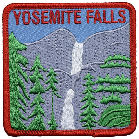 "Yosemite Falls Patch - California, Yosemite National Park Badge 3"" (Iron on)"