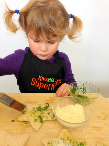 Cheese and Herb Crostini Stars - KidsHQ SuperMeals