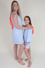 Linen dress with coral tassels (Kids)