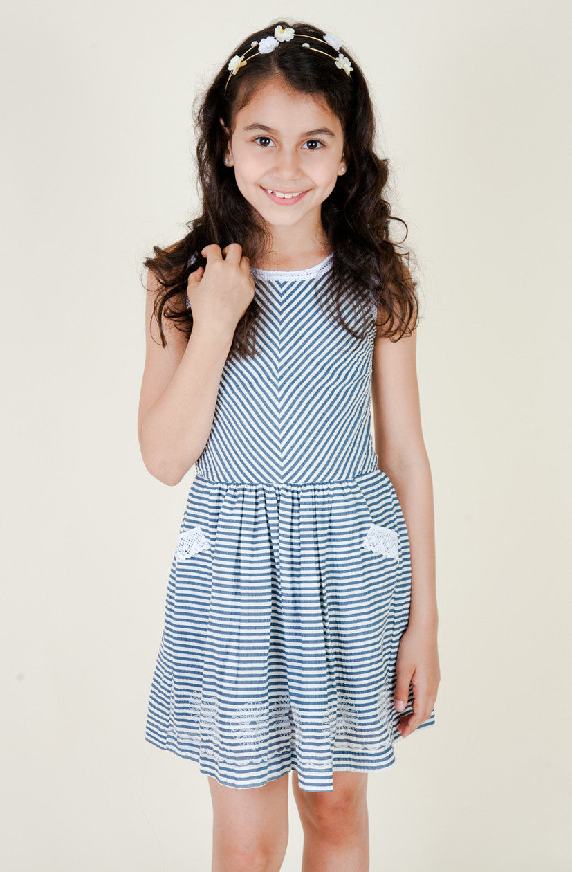 Seersucker Cotton Summer Dress