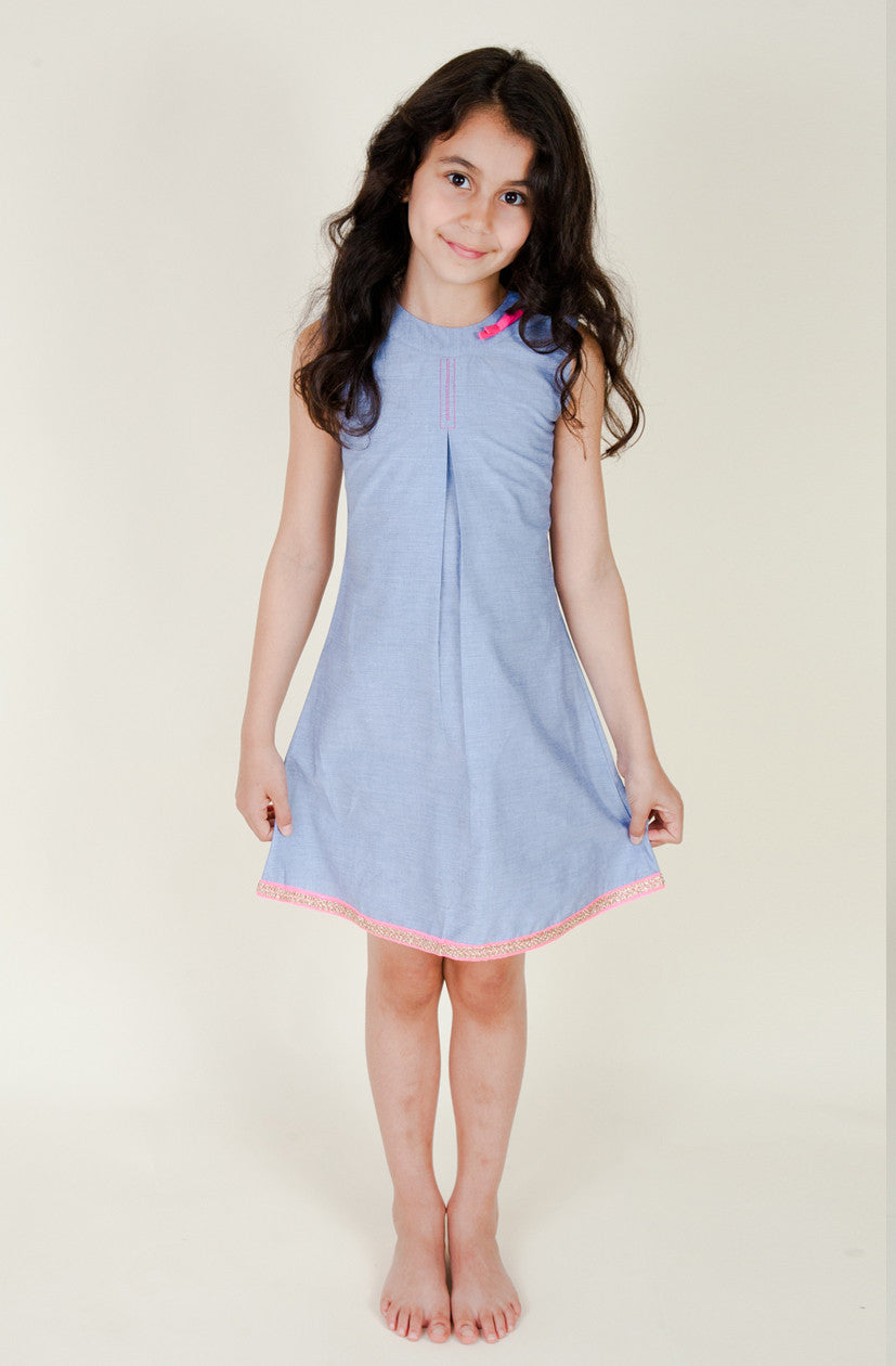 Summer Chambray Shift Dress