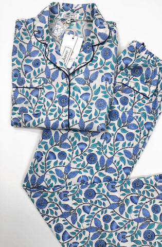 Blue Cotton Pajama Set