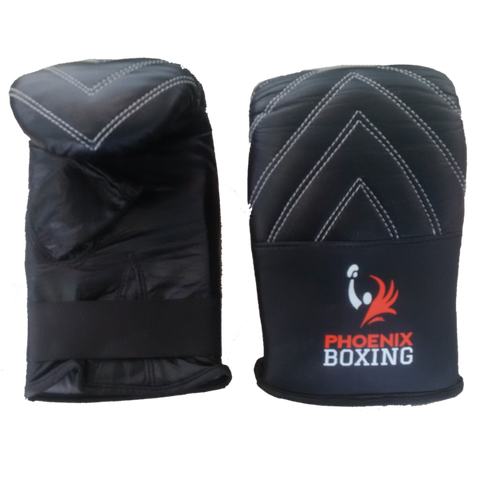 Black PHOENIX BOXING BAG MITTS