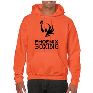 UNISEX PHOENIX BOXING HOODIE (SWEATSHIRT) - ORANGE