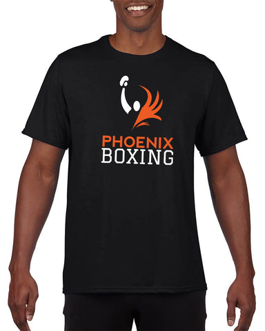 MEN'S PHOENIX BOXING PERFORMANCE T-SHIRT - BLACK