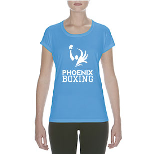 WOMEN'S PHOENIX BOXING  PERFORMANCE T-SHIRT - BLUE