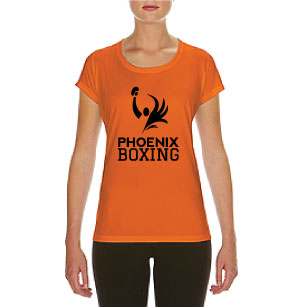 WOMEN'S PHOENIX BOXING PERFORMANCE T-SHIRT - ORANGE