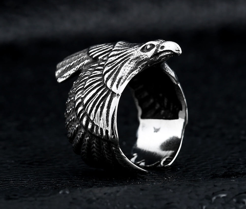 Biker Eagle Ring (Stainless Steel)