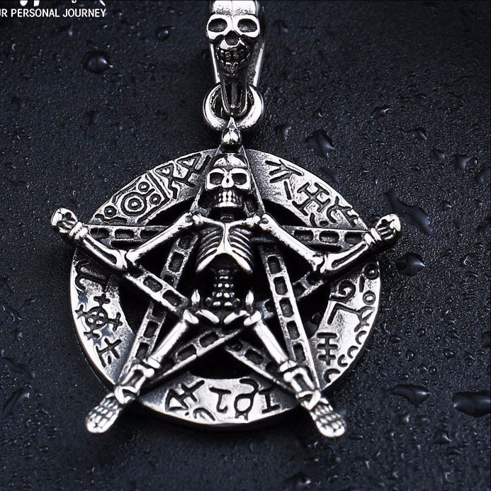 Five Star Skull Pendant Necklace