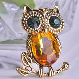 Antique Owl Brooch Pin