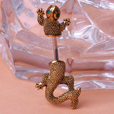 Gecko Lizard Piercing Belly Button Ring