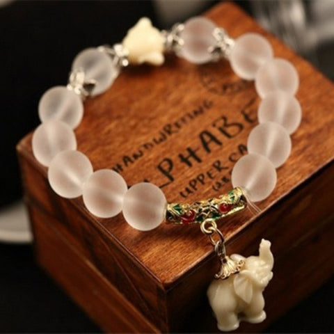Crystal Elephant Stretch Bracelet