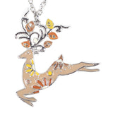 Bonsny Stag Deer Pendant Necklace