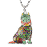Bonsny Schnauzer Dog Pendant Necklace