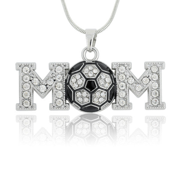 Soccer Ball Mom Sports Pendant Necklace