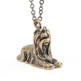 3D Yorkshire Terrier Yorkie Puppy Dog Pendant Necklace