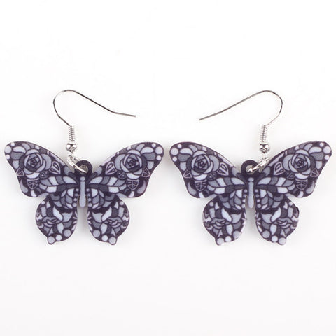 Bonsny Drop Butterfly Earrings